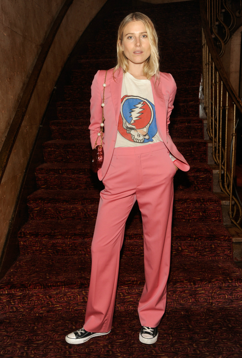 """Dree Hemingway in Gucci at a screening of Florence + the Machine's visual album """"The Odyssey"""" on Wednesday in New York City. Photo: Courtesy of Getty Images/Gucci"""