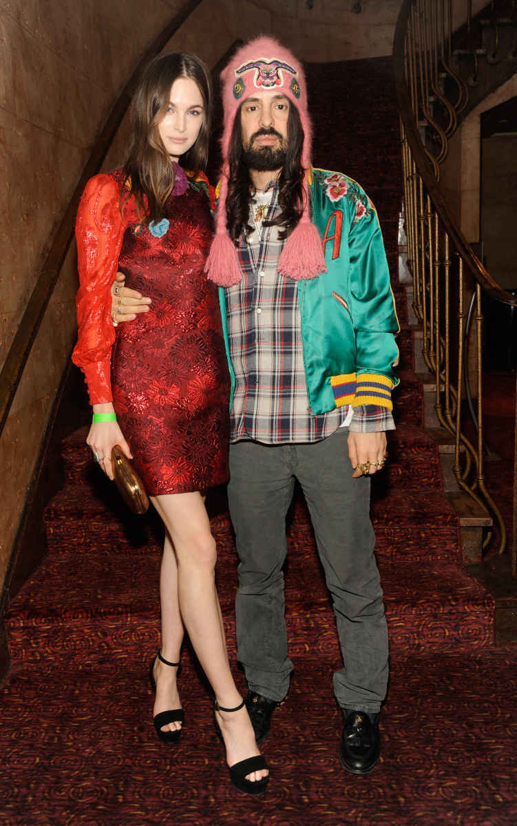 "Laura Love and Alessandro Michele at the Florence and The Machine's ""Odyssey"" screening. Photo: Rabbani and Solimene Photography/Getty Images for Gucci)"