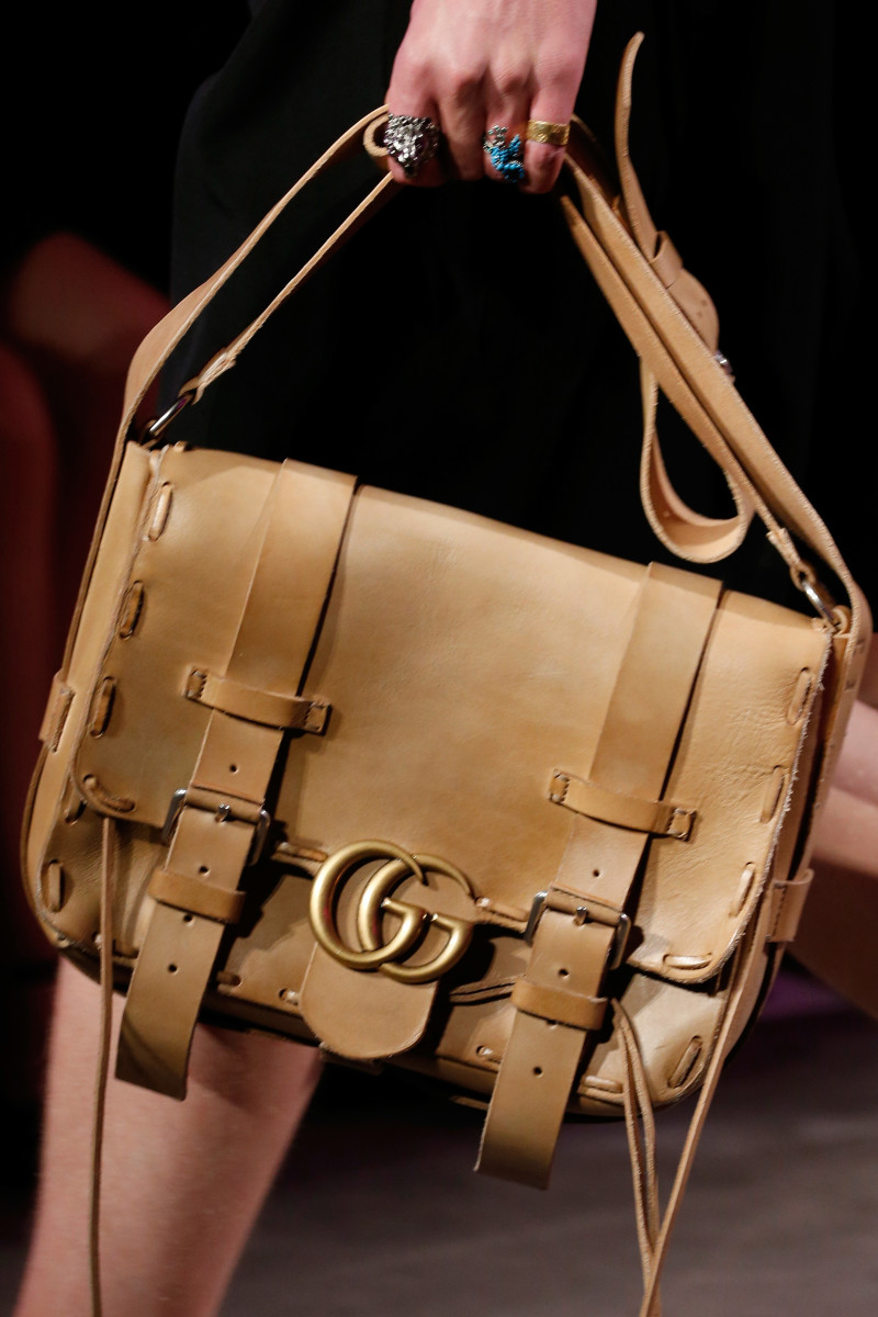 A Gucci bag on the Spring 2016 menswear runway. Photo: Getty Images