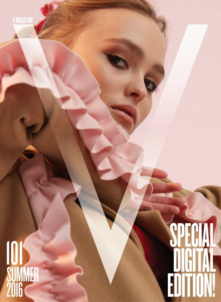 Lily-Rose Depp covers V101's digital edition. Styling by Emma Wyman. Photo: Charlie Engman