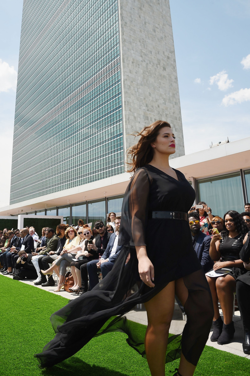 Ashley Graham on the runway. Dimitrios Kambouris/Getty Images