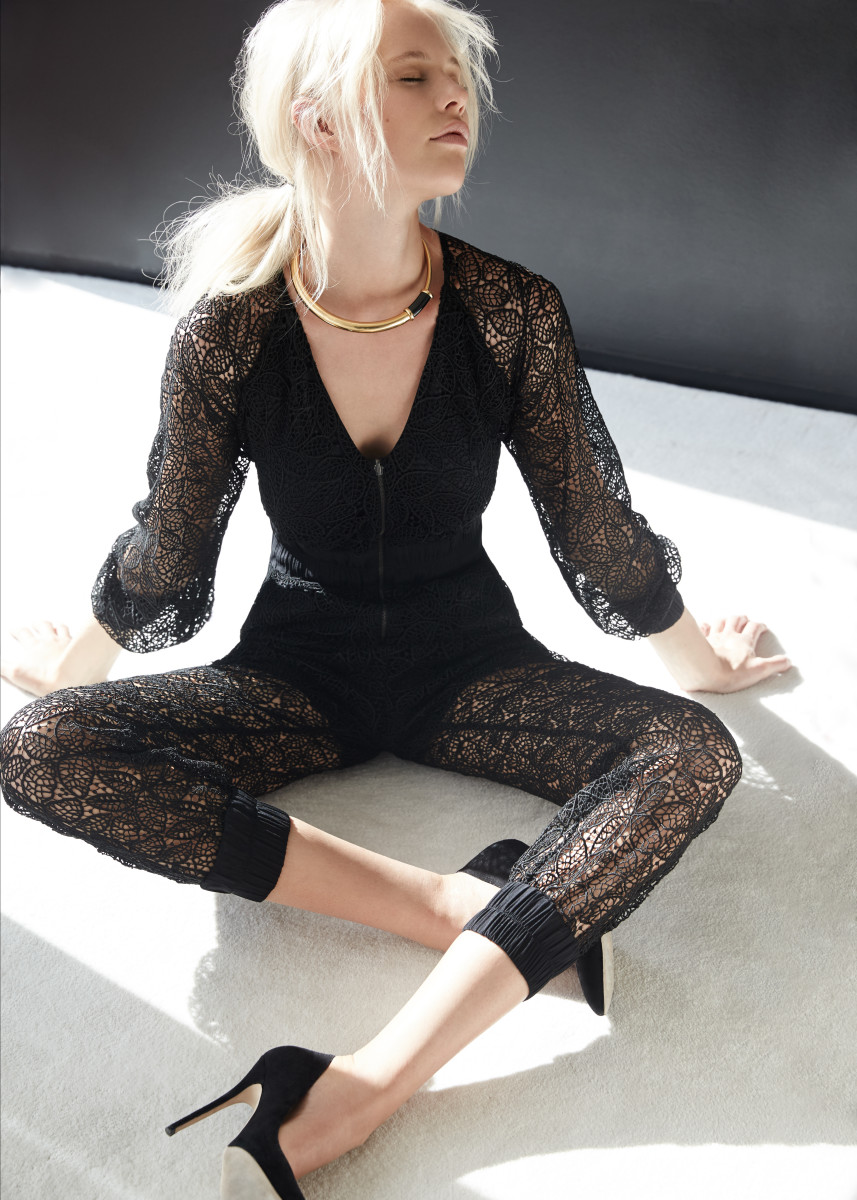 Oh yeah, Taylor Swift wore this lace jumpsuit, too. Photo: Haney