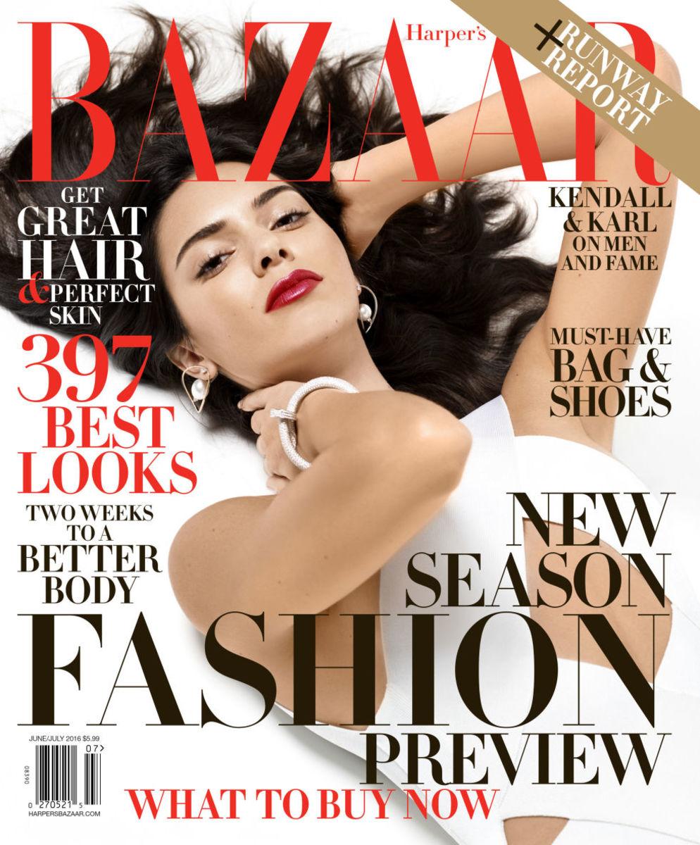 Kendall Jenner covers the June/July issue of 'Harper's Bazaar'. Photo: Harper's Bazaar