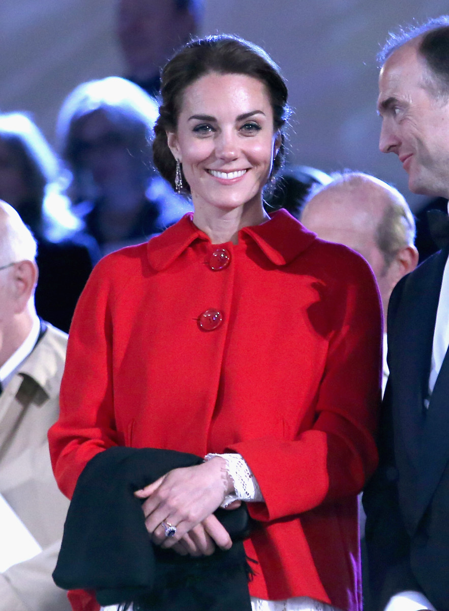 The Duchess of Cambridge in Dolce & Gabbana and Zara on Sunday in Windsor. Photo: Chris Jackson/Getty Images
