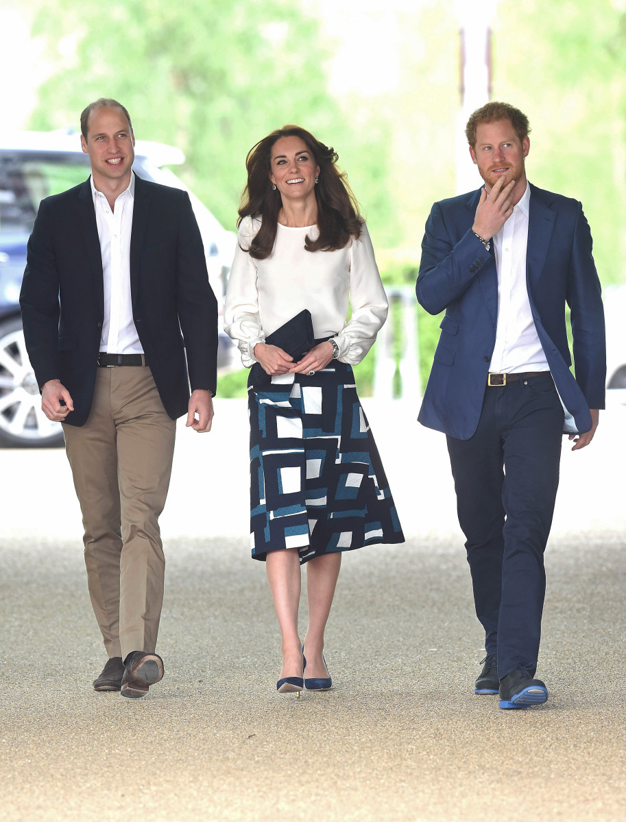 The Duchess of Cambridge with Princes William and Harry at the launch of Heads Together Campaign on Monday in London. Photo: Stuart C. Wilson/Getty Images