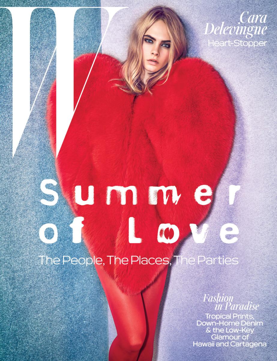 Cara Delevingne on W Magazine's June/July 2016 cover. Photo: Mario Sorrenti