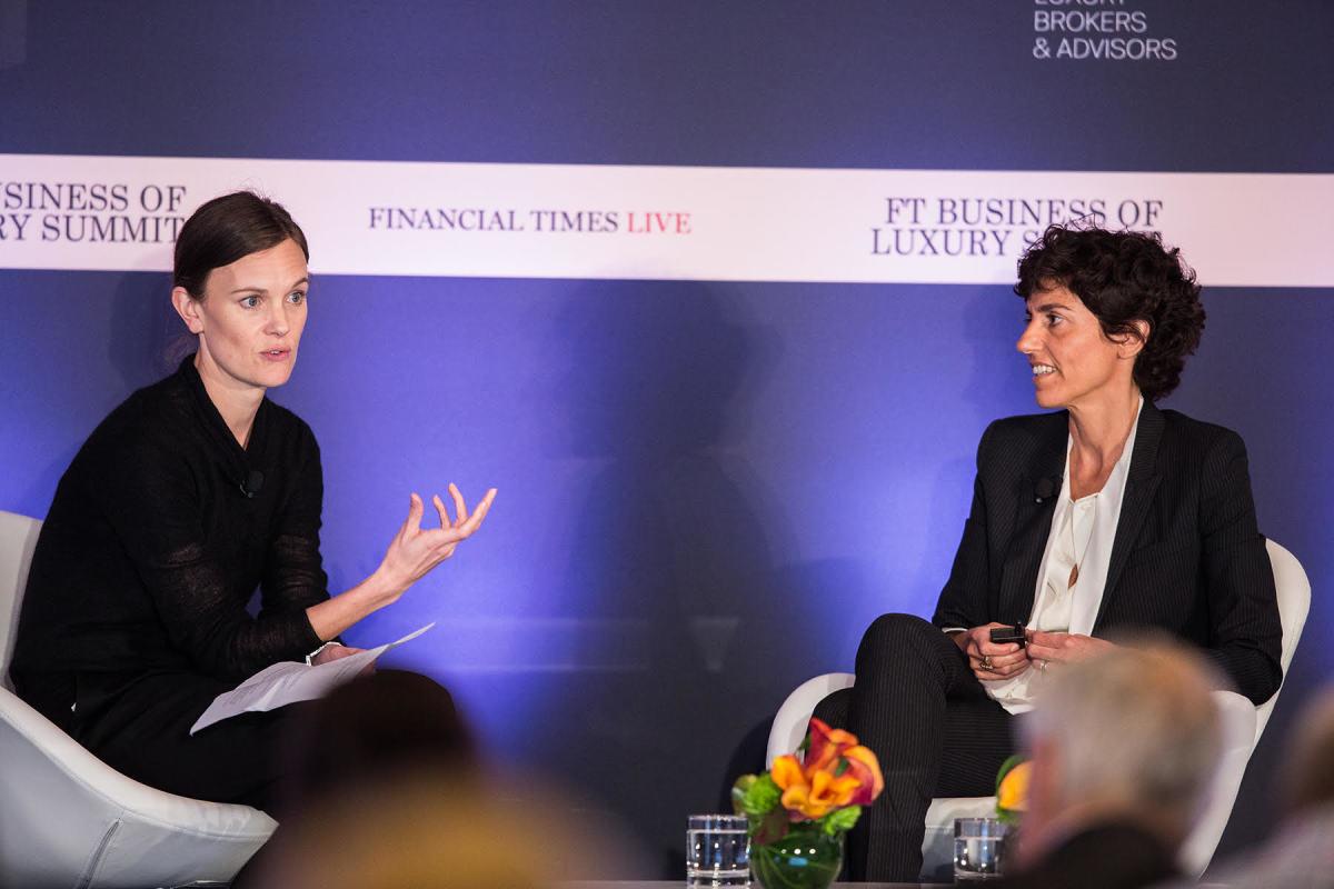 Jo Ellison and Francesca Bellettini. Photo: Financial Times Live