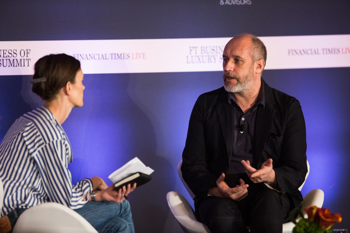 Jo Ellison and Peter Copping. Photo: Financial Times Live