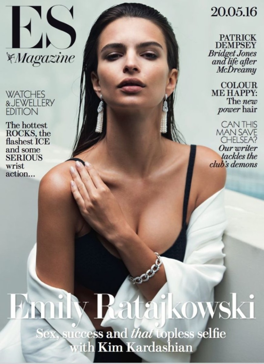 "Emily Ratajkowski on the May 2016 cover of ""Evening Standard"" Magazine. Photo: David Bellemere/""Evening Standard"" Magazine"