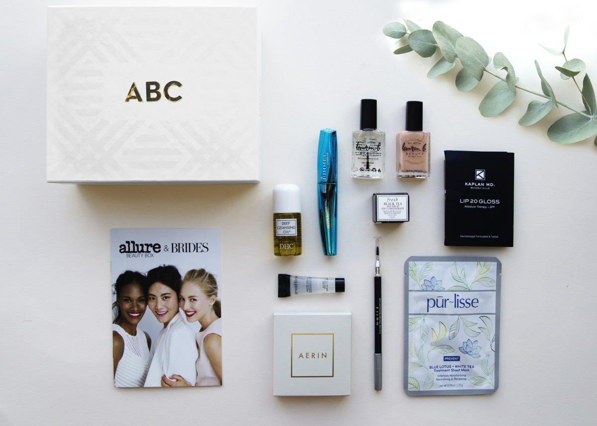 The limited edition Allure and Brides beauty box. Photo: Allure