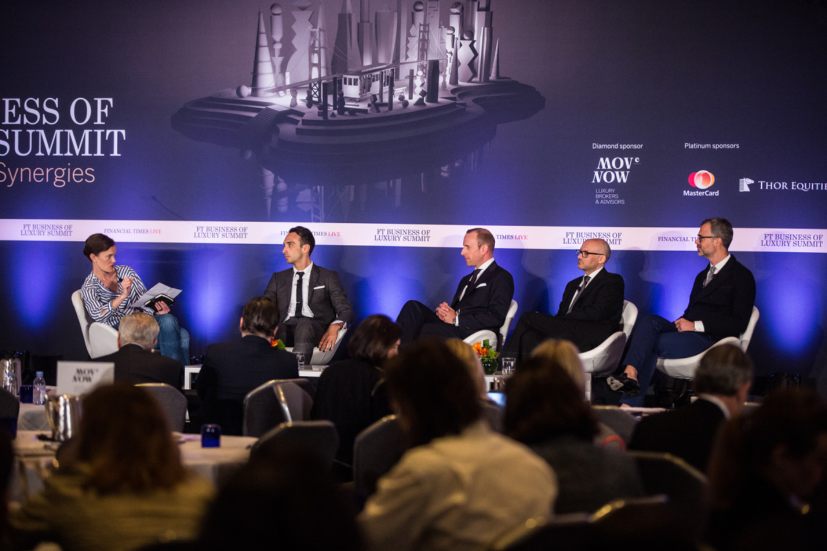 Jo Ellison, Rodrigo Bazan, Philipp Gajzer, Victor Luis, Paolo Riva. Photo: Financial Times Live