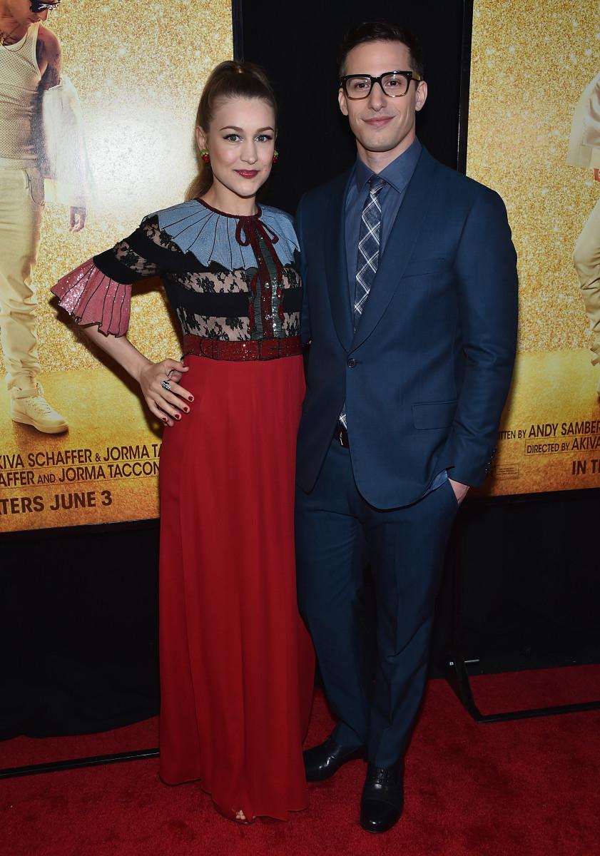 Cute couple alert: Joanna Newsom <3 Andy Samberg. Photo: Dimitrios Kambouris/Getty Images