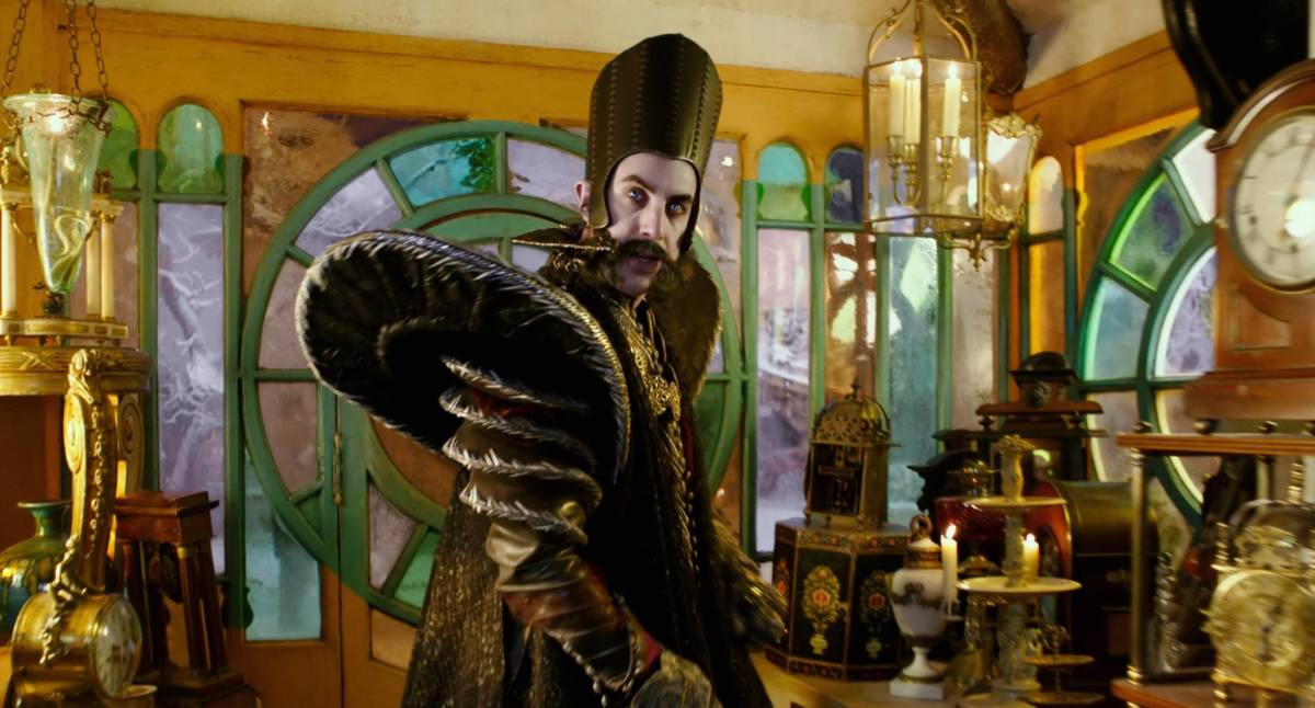 "Sacha Baron Cohen as Time in ""Alice Through the Looking Glass."" Photo: Disney"