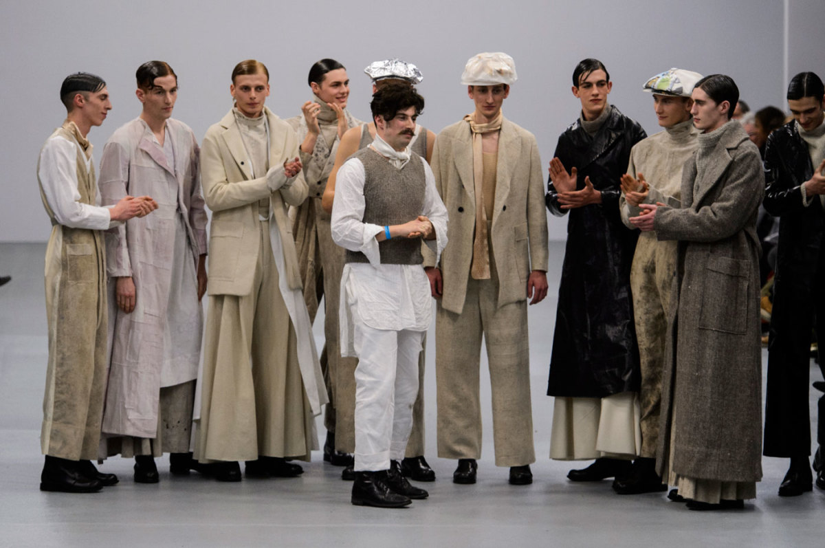 Central Saint Martins at London Fashion Week in February. Photo: Imaxtree