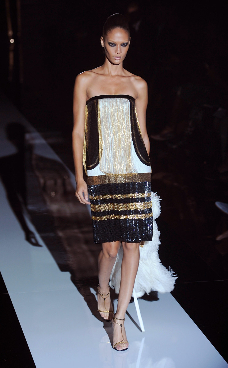 Joan Smalls killed in this look on the Gucci spring 2012 runway. Photo: Getty Images