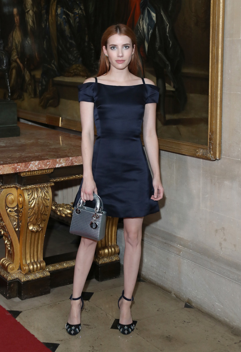 Emma Roberts at the Dior cruise show. Photo: Mike Marsland/Getty Images