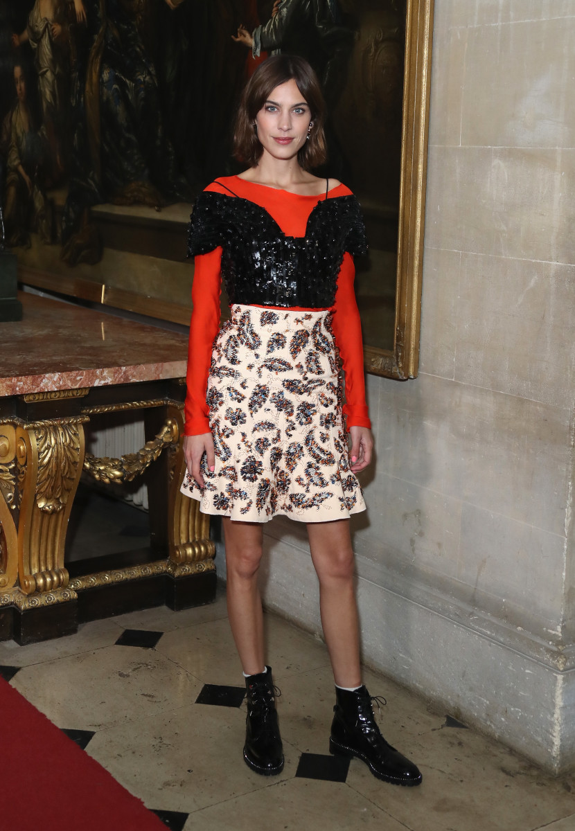 Alexa Chung at the Dior cruise show. Photo: Mike Marsland/Getty Images