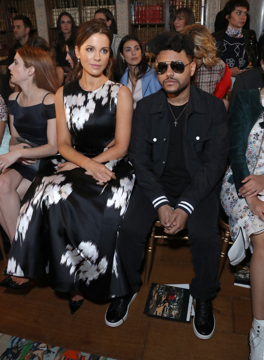 Kate Beckinsale and The Weeknd at the Dior cruise show. Photo: Mike Marsland/Getty Images