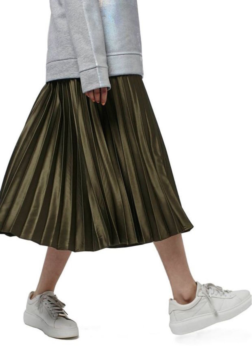 Topshop Pleated Satin Skirt, $95, available at Nordstrom.