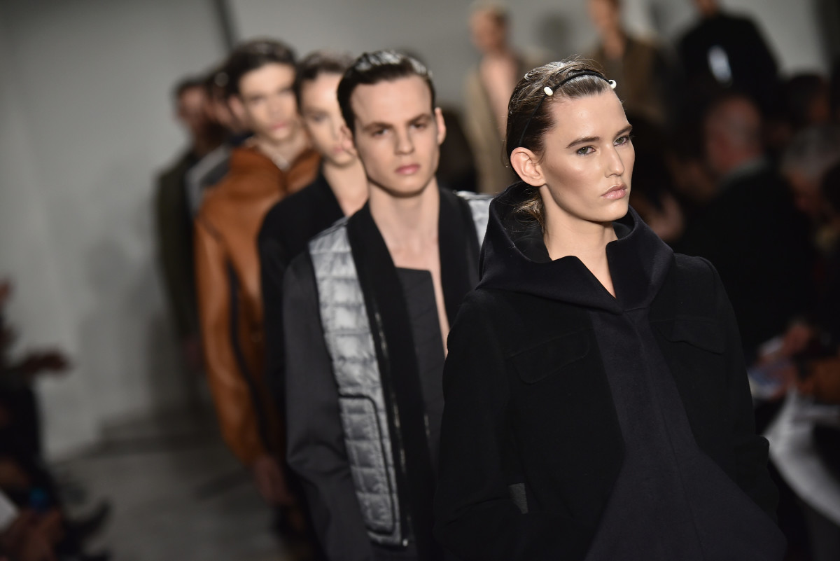 Tim Coppens fall 2015 runway show during MADE Fashion Week. Photo: Albert Urso/Getty Images