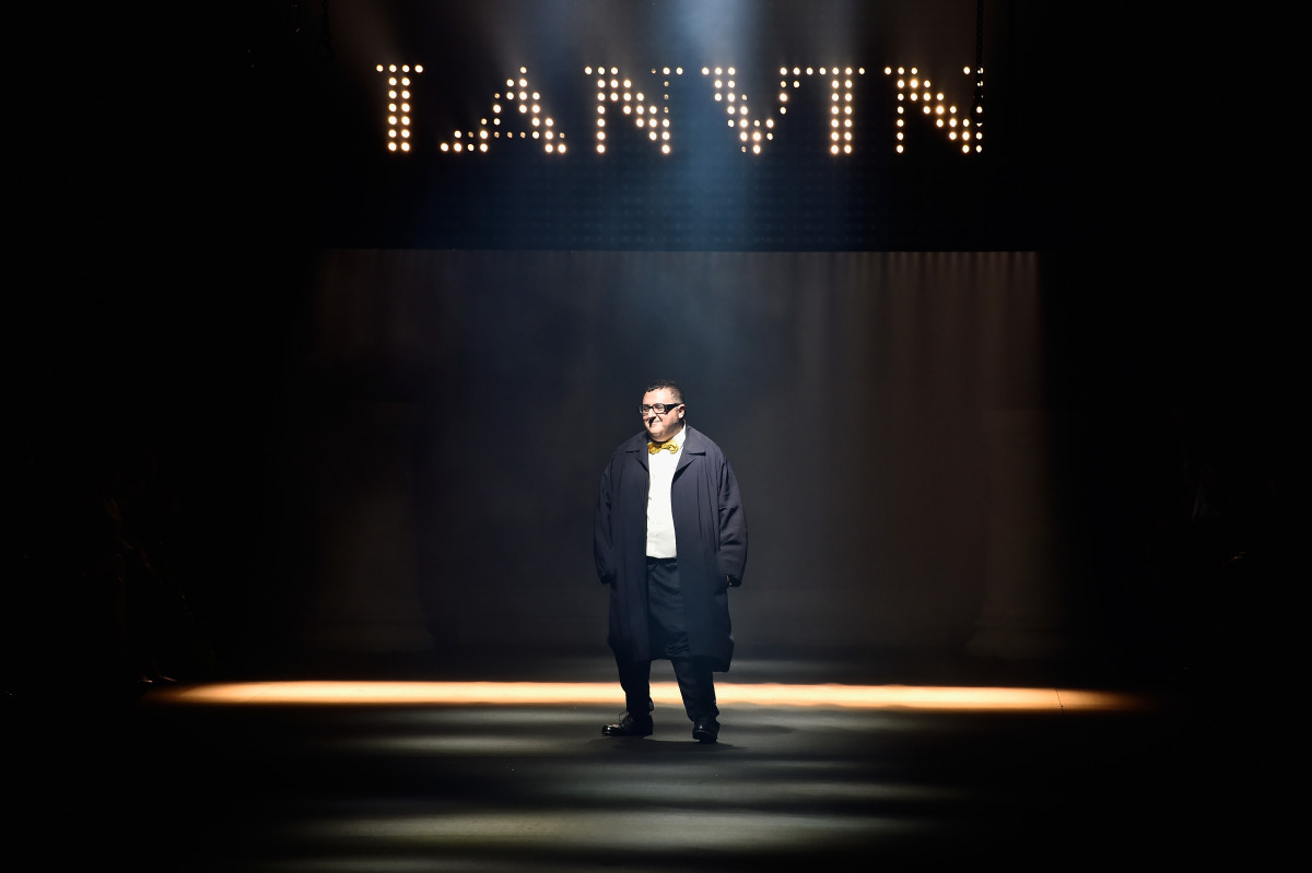 Alber Elbaz at his final runway show for Lanvin. Photo: Pascal Le Segretain/Getty Images