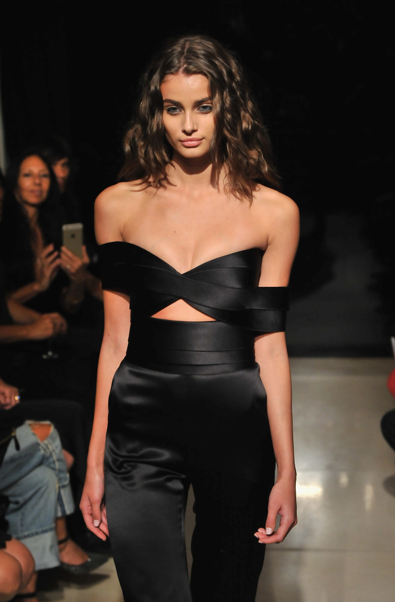 A look from Brandon Maxwell's debut spring 2016 runway show. Photo: Fernando Leon/Getty Images for Brandon Maxwell
