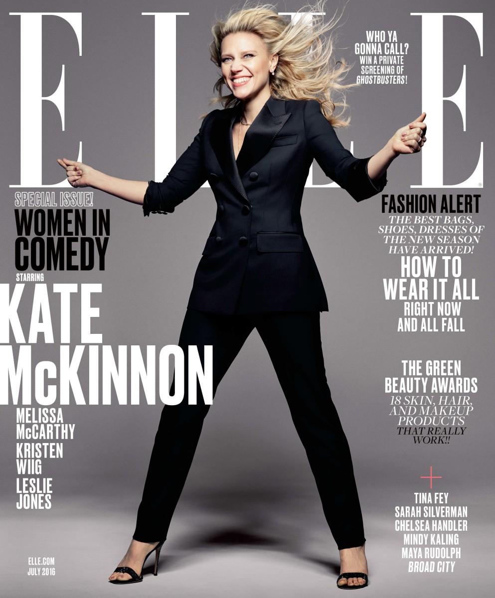 "Kate McKinnon on the July 2016 cover of ""Elle."" Photo: Mark Seliger/""Elle"""