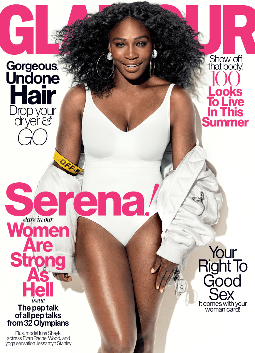 Serena Williams on the cover of 'Glamour.' Photo: Norman Jean Roy/Glamour