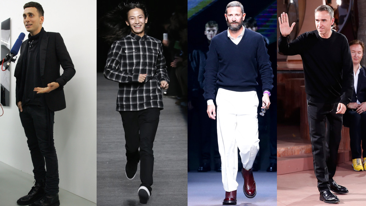 Hedi Slimane, Alexander Wang, Stefano Pilati and Raf Simons. Photo: Composite/Getty Images