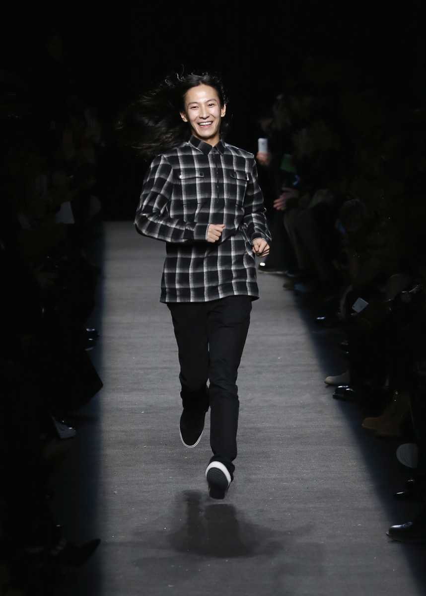 Alexander Wang at his fall 2015 runway show in New York City. Photo: Neilson Barnard/Getty Images