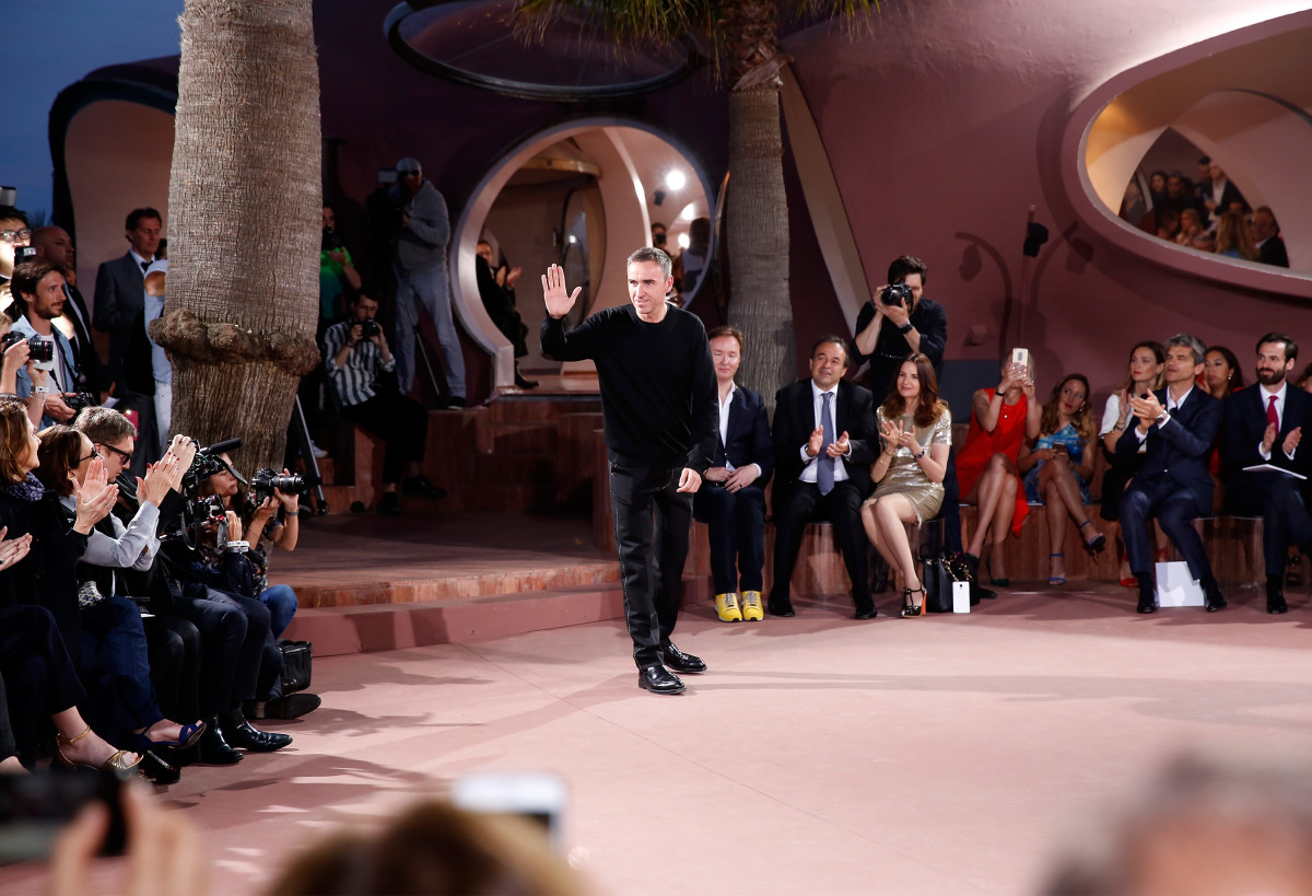 Raf Simons at the Dior cruise 2016 show in Theoule sur Mer, France. Photo: Didier Baverel/Getty Images