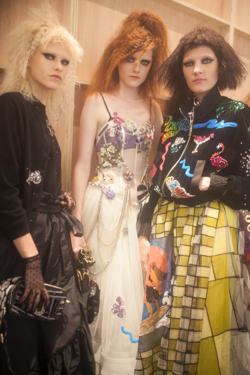 Backstage at Marc Jacobs's resort show. Photo: Marc Jacobs