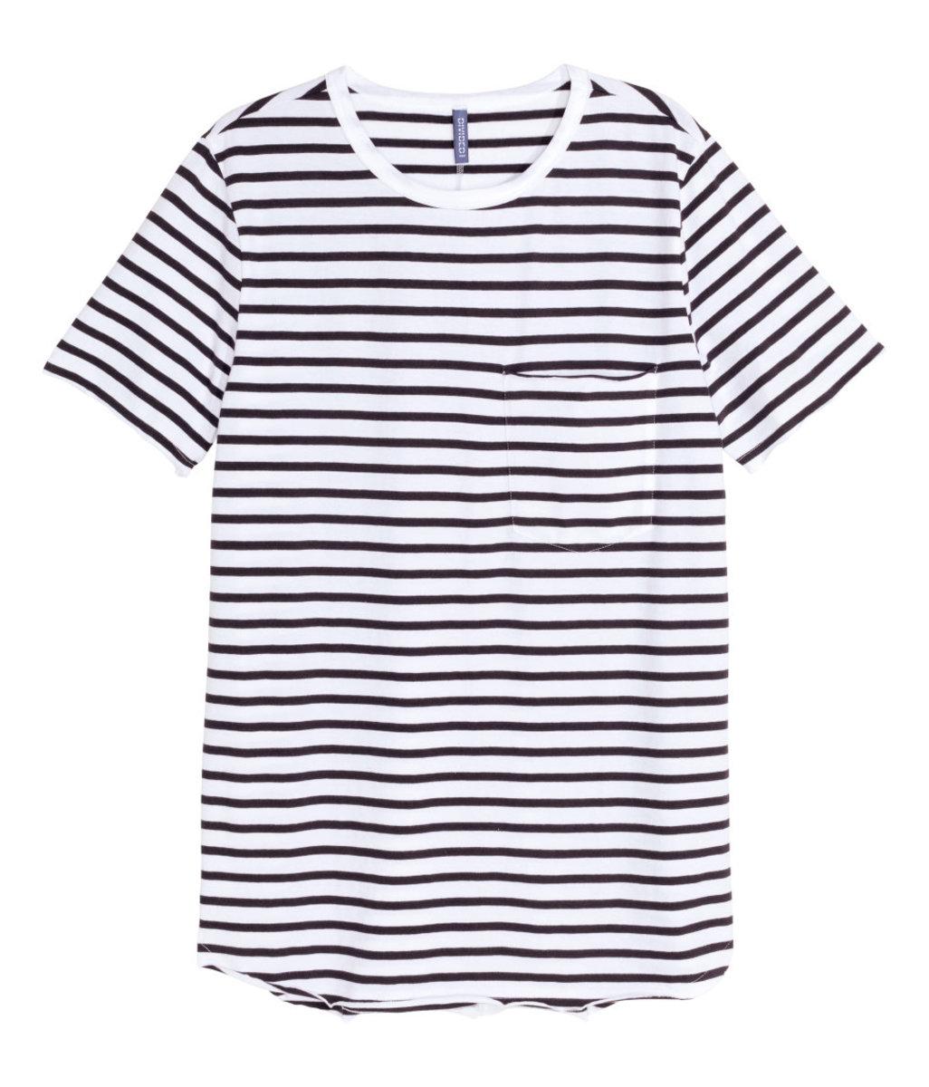 H&M long men's T-shirt, $9.99, available at H&M.