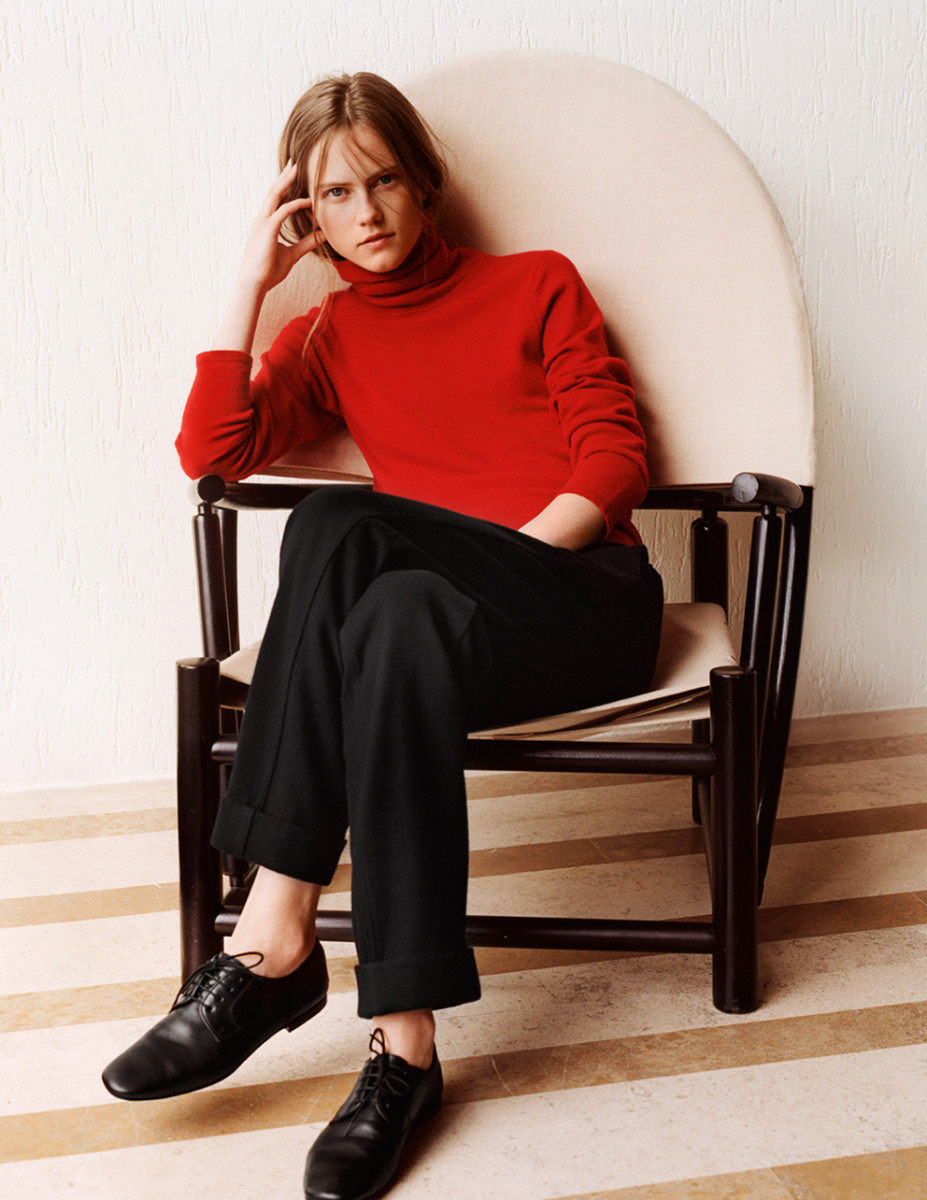 A look from the Uniqlo & Lemaire fall 2015 collection. Photo: Uniqlo
