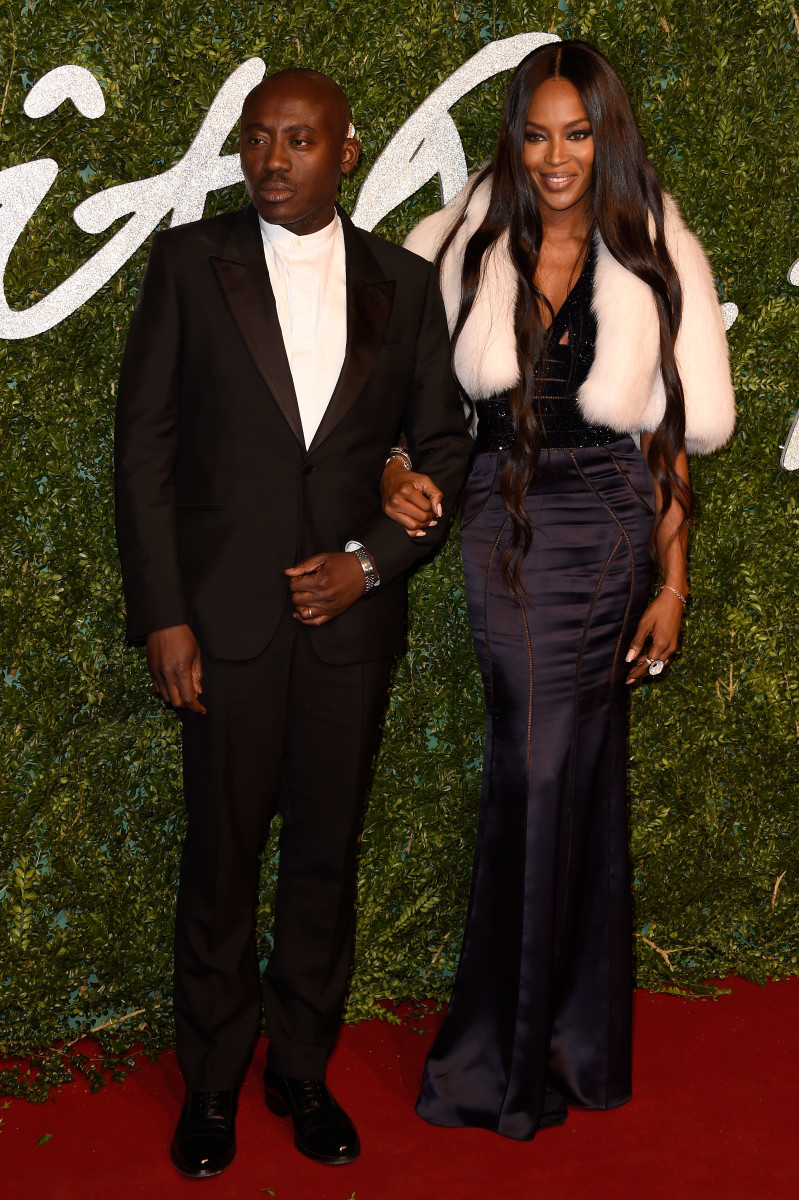Enninful and Campbell at the 2014 British Fashion Awards. Photo: Getty Images