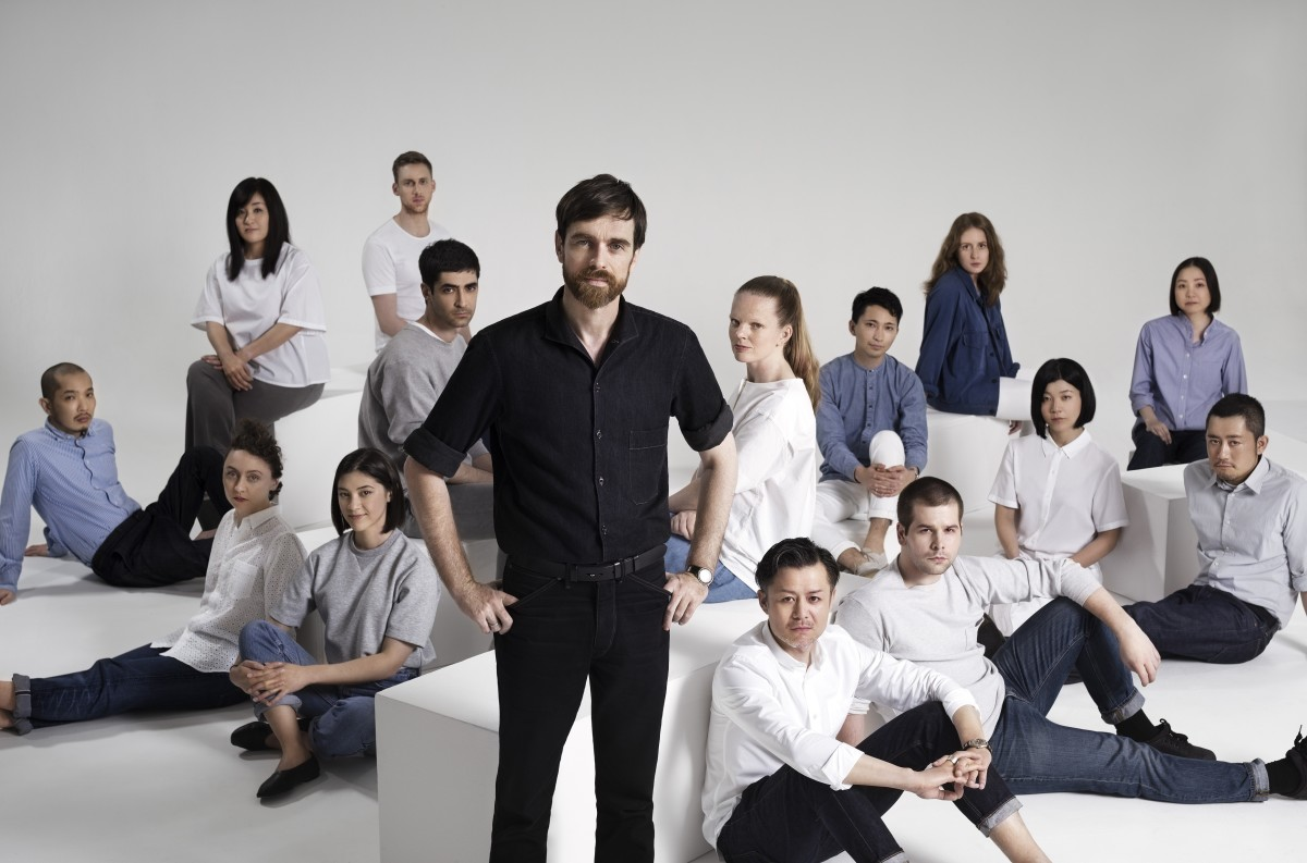Christophe Lemaire with the UNIQLO Paris R&D Center team. Photo: Uniqlo