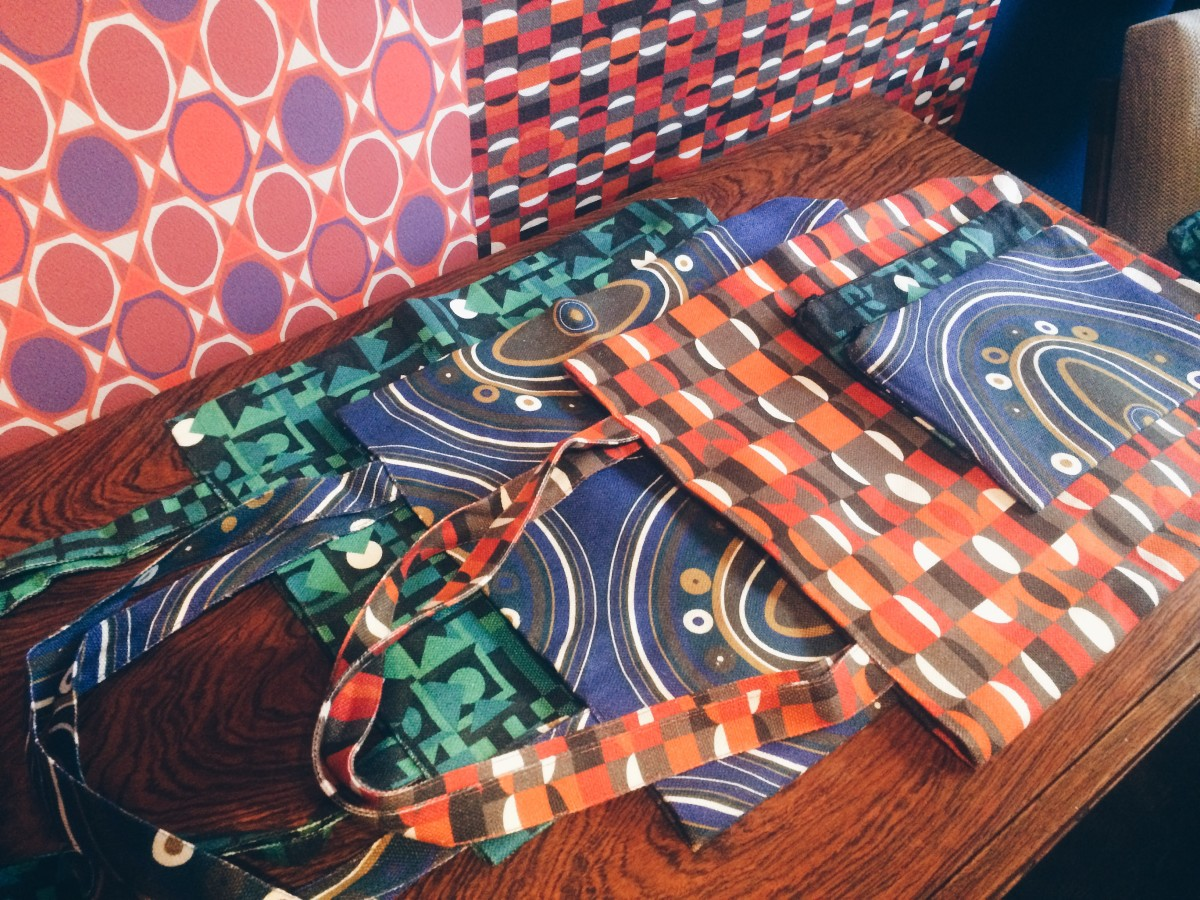 The brand's new tote bags and pouches. Photo: Karina Hoshikawa