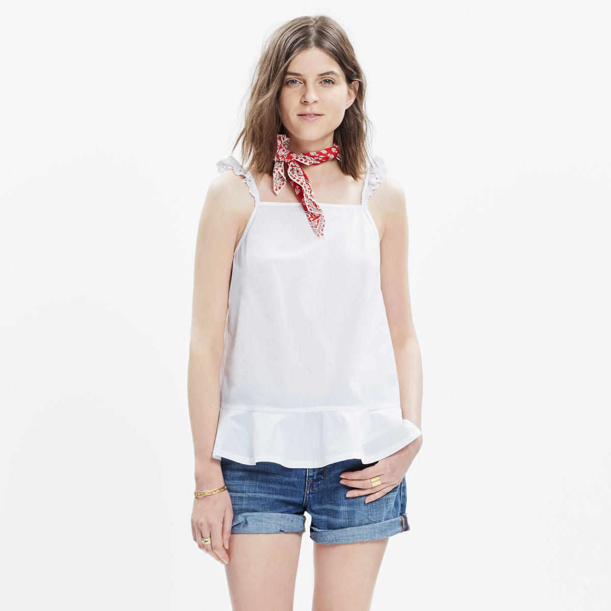 Eyelet Sunshower Top, on sale for $49.99, available at Madewell
