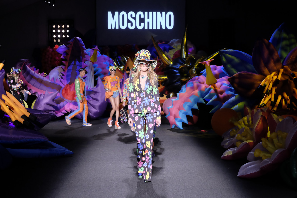 Moschino resort 2017 and men's spring 2017. Photo: Frazer Harrison/Getty Images