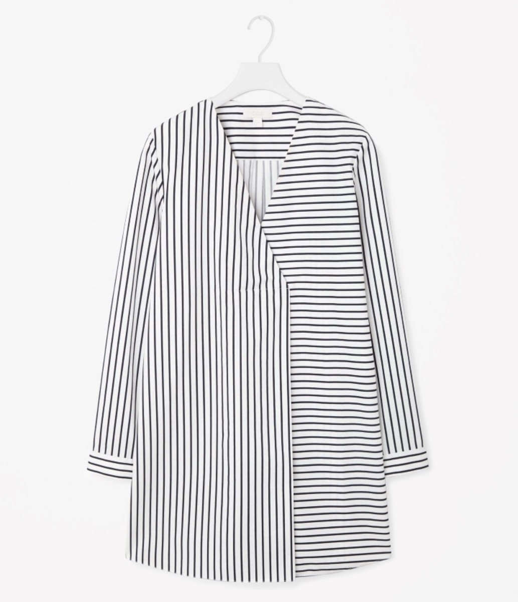 Cos long oversize striped top, $99, available at Cos.