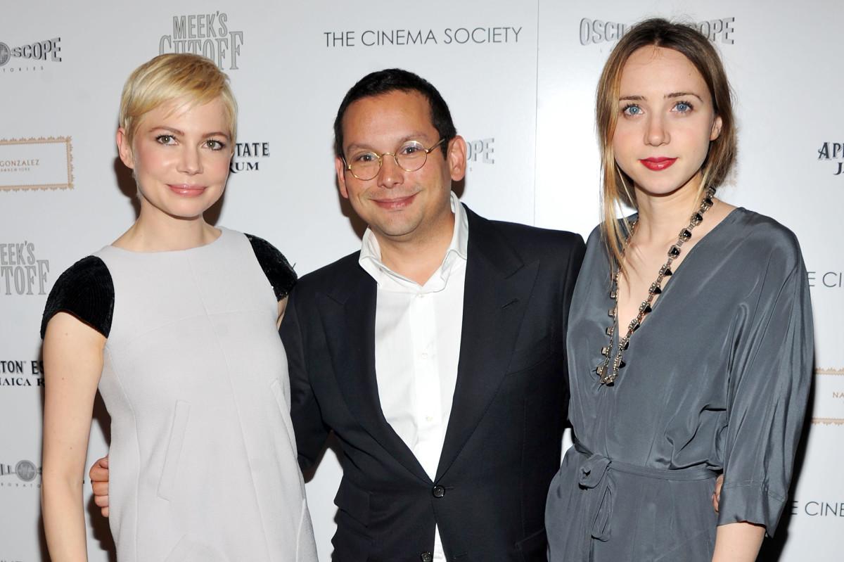 Michelle Williams, Santiago Barberi Gonzalez and Zoe Kazan. Photo: Stephen Lovekin/Getty Images