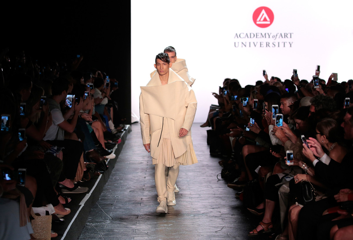 Models walk the runway at the Academy Of Art University Spring 2016 Collections fashion show in New York City. Photo: Randy Brooke/Getty Images for Academy of Art University