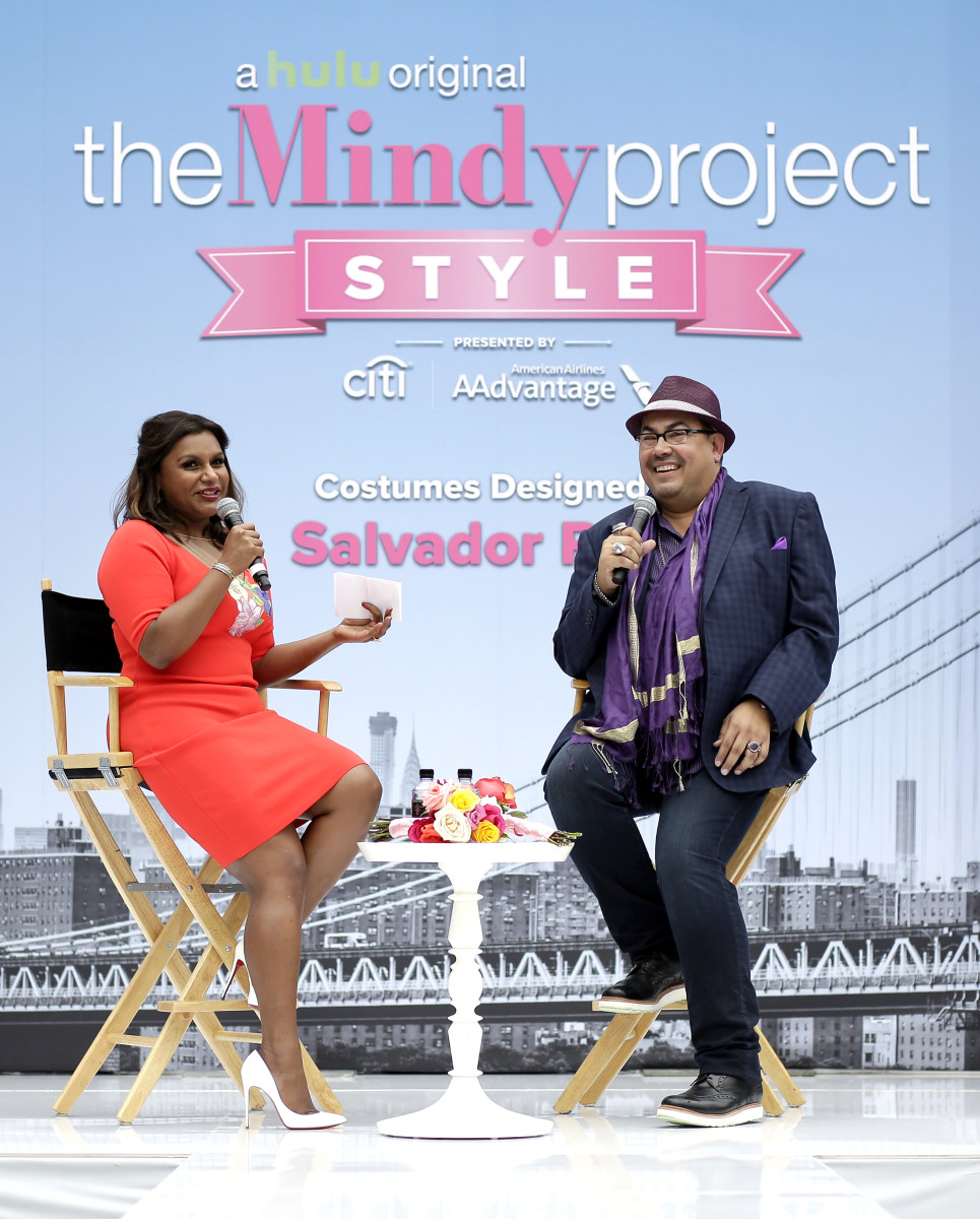 Mindy Kaling and Salvador Perez. Photo: Getty Images for Caruso Affiliat