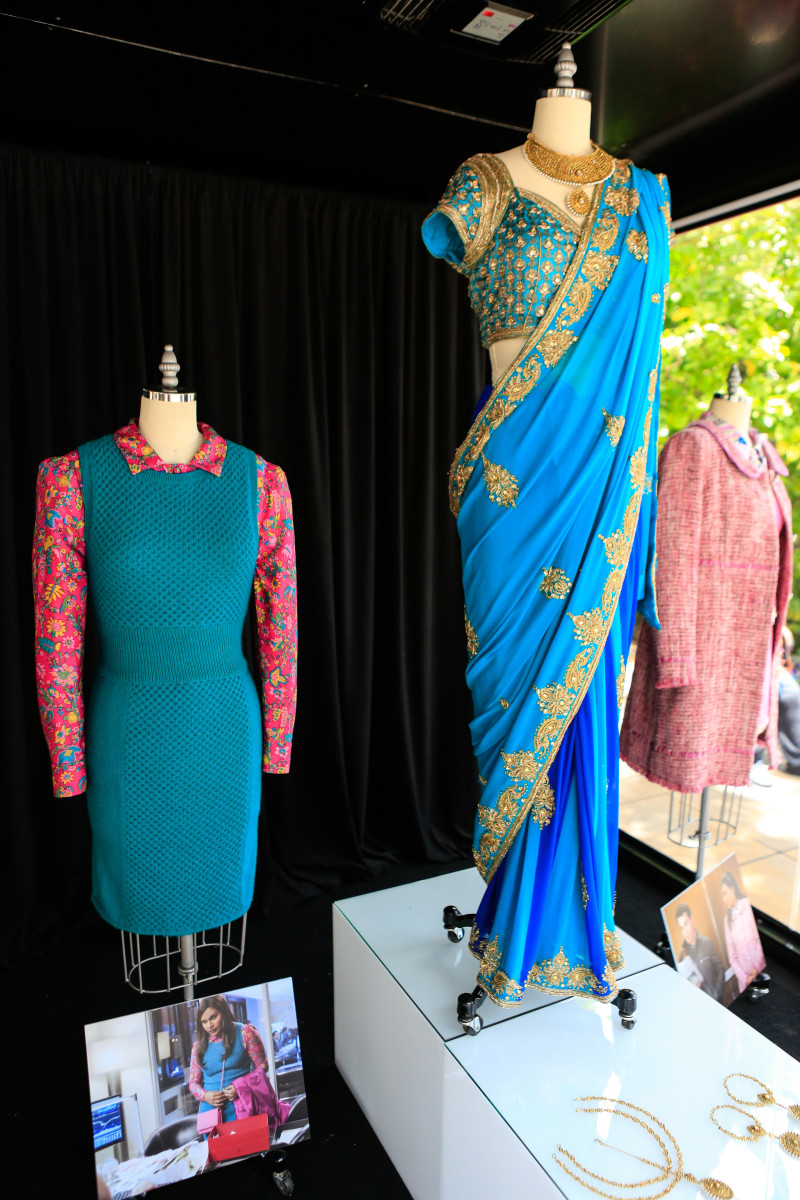 Mindy Kaling costumes on display at The Grove. Photo: The Grove/Tiffany Rose