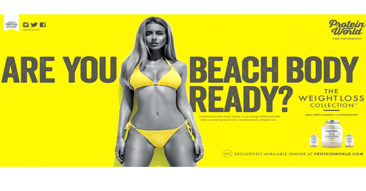 The ad in question. Photo: Protein World
