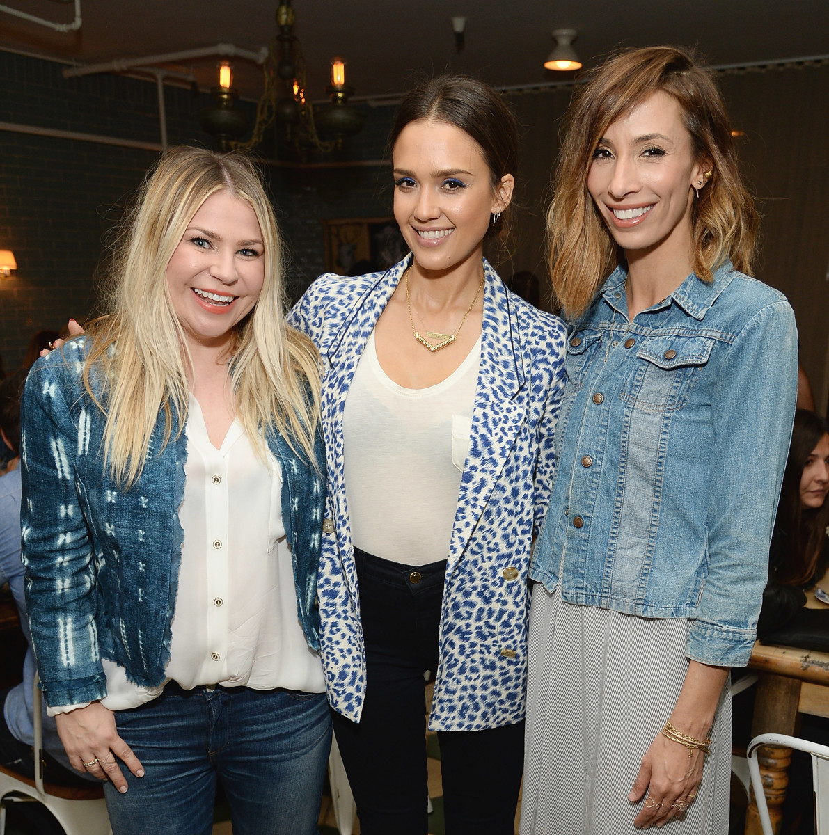 Emily Current (left) and Meritt Elliott (right) with Jessica Alba. Photo: Michael Kovac/Getty Images