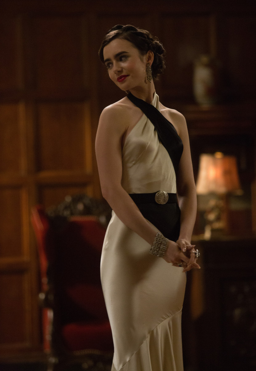 Celia's sexy dress. Photo: Sony Pictures Television/Amazon, Photo Credit: Adam Rose