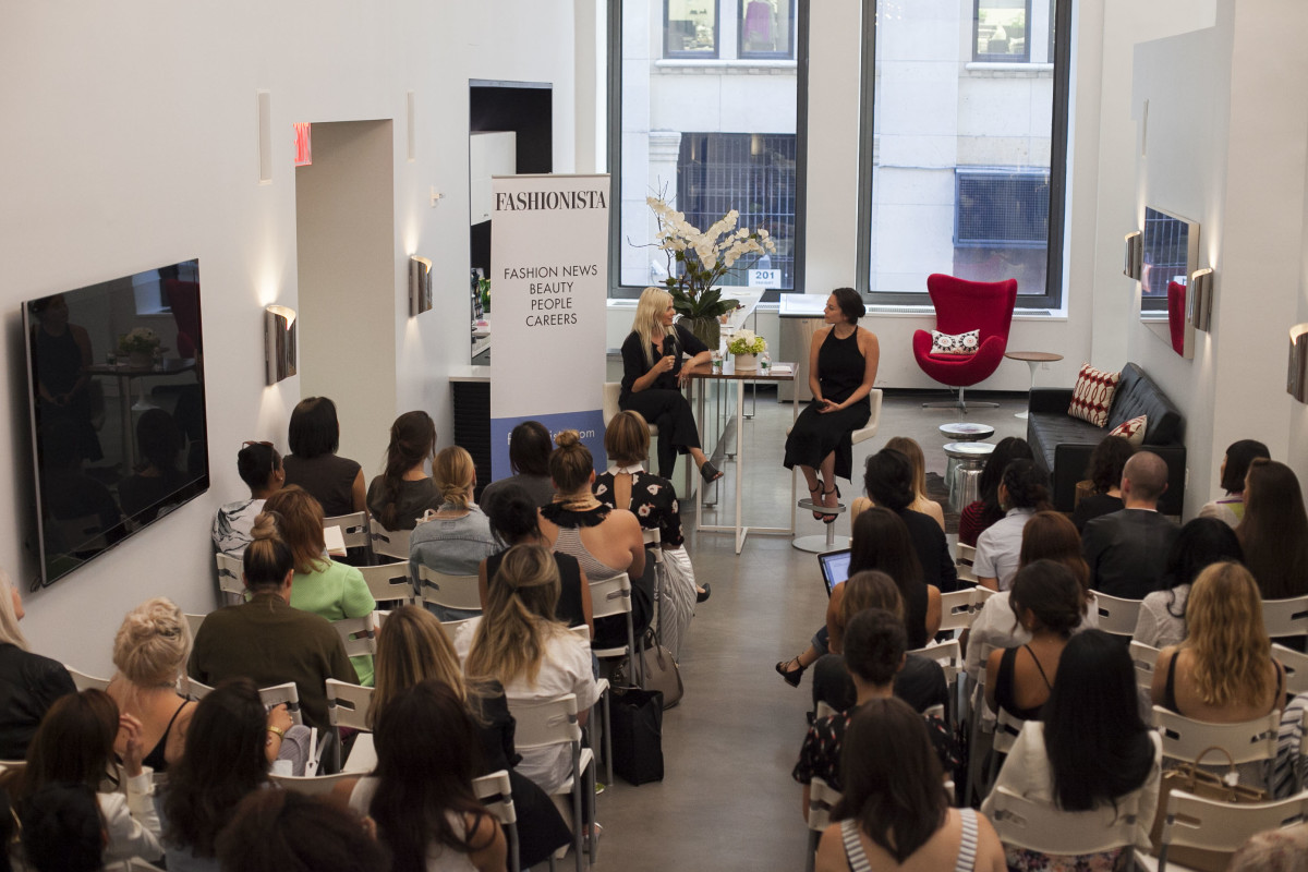 The audience at the event. Photo: Emily Malan/Fashionista