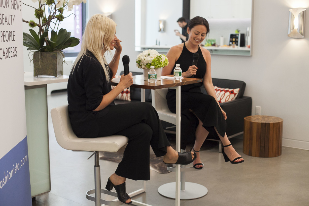 Kate Young and Executive Editor Alyssa Vingan at the event. Photo: Emily Malan/Fashionista
