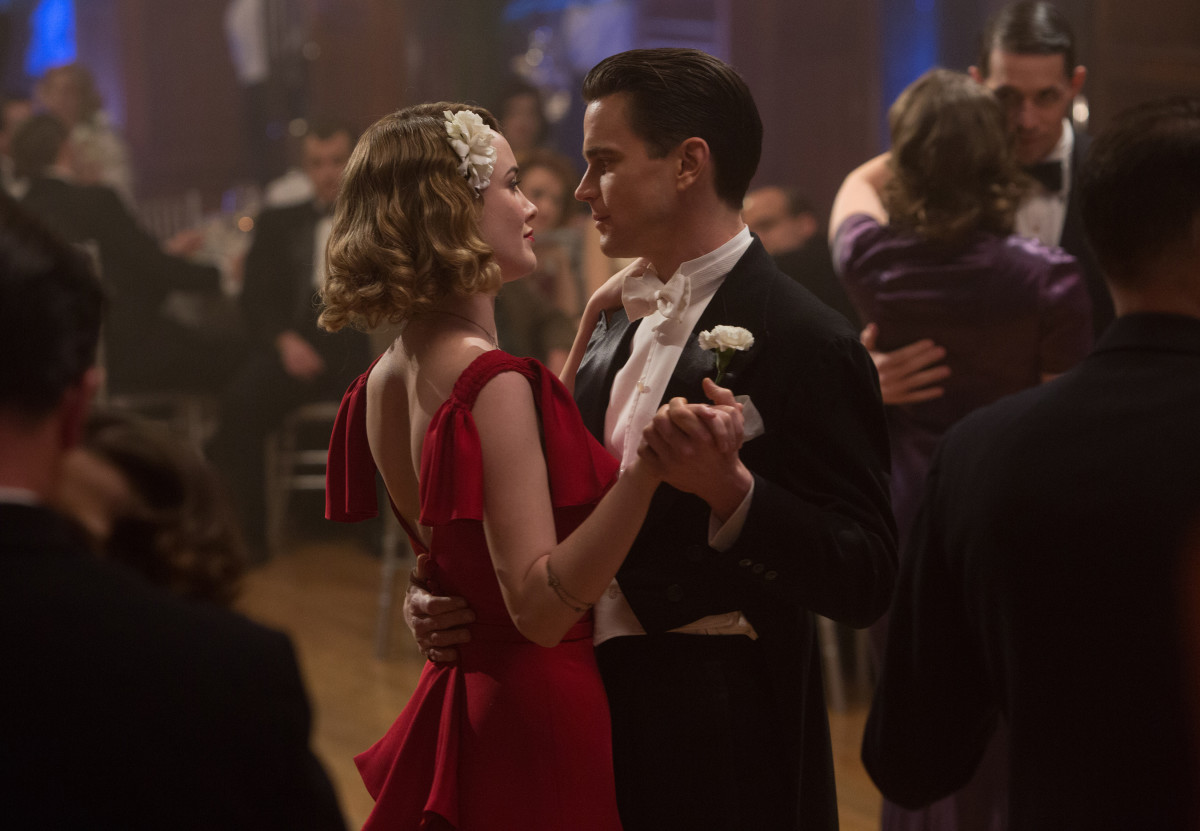 Dominique McElligott as Katherine Moore and Matt Bomer as Monroe Stahr. Photo: Sony Pictures Television/Amazon, Photo Credit: Adam Rose